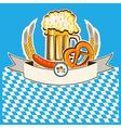 Beer card Bavaria background vector image