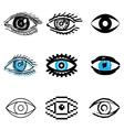 icons eye vector image
