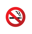 2008184 no smoking sign 2 vector image vector image