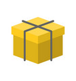3d box with rope flat design icon vector image