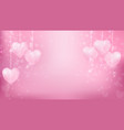 abstract background valentines vector image vector image