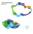 Abstract color map of Czech Republic vector image vector image