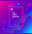 abstract colorful liquid and fuid shape geometric vector image