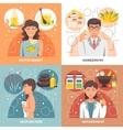 Alternative Medicine 2x2 Design Concept vector image vector image