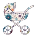 Baby carriage for boy vector image vector image