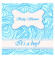 Baby-shower-wave-pattern-boy vector image