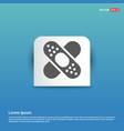 bandage icon - blue sticker button vector image