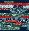 bandana paisley fabric striped patchwork vector image vector image