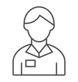 banker thin line icon account manager vector image