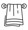 bath towel icon outline style vector image vector image