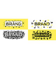 brand identity banner set simple style vector image vector image