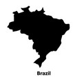 brazil map icon simple style vector image