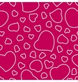 Bright Pink Valentines Day Seamless Pattern vector image vector image