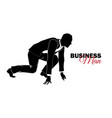 businessman manager a man in a business suit vector image vector image