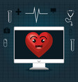 cardiology digital healthcare medical isolated vector image