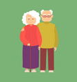 cartoon color characters couple elderly people vector image vector image