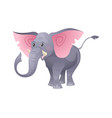 cartoon cute elephant fashion cuteness jungle vector image