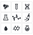 Chemistry icon collection vector image