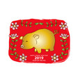 chinese new year 2019 year pig vector image vector image