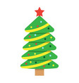 christmas tree flat icon new year and christmas vector image vector image