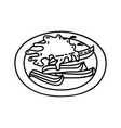churros icon doodle hand drawn or outline icon vector image