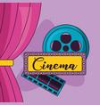 cinema movie design vector image vector image