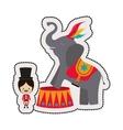 Circus tamer cartoon vector image