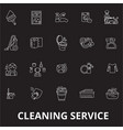 cleaning service editable line icons set on vector image vector image
