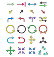 Color arrows icons set vector image