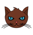 color image cartoon face cat animal vector image