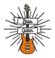 Color vintage rock emblem vector image
