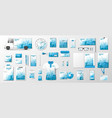 corporate identity template realistic business vector image vector image