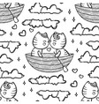 cute kitties are sailing converted vector image vector image