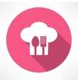 Cutlery and chef hat vector image vector image