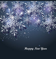 dark blue winter abstract christmas background vector image vector image