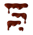 dripping melted chocolate set vector image