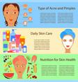 facial treatment flyer vector image vector image