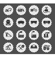 factory and industry symbols vector image vector image