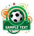 festive soccer background vector image vector image