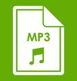 file mp3 icon green vector image vector image