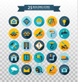 flat circular construction iconsweb building icon vector image