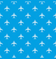 flying plane pattern seamless blue vector image vector image