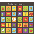food colored doodle icons vector image