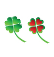Four leaves clover vector image vector image