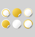 gold circle price tags vector image vector image