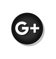 google plus sign vector image vector image