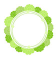 green doodle circle flower frame isolated vector image
