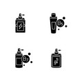 hair oils black glyph icons set on white space vector image vector image