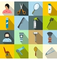 Hairdressing flat icons set vector image vector image