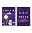halloween party invitation with zombies hands vector image vector image